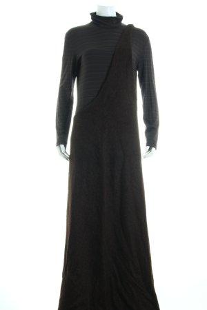 Strenesse Robe en laine brun foncé-marron clair style extravagant