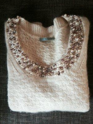 STRENESSE Wollpullover Perlen Strass
