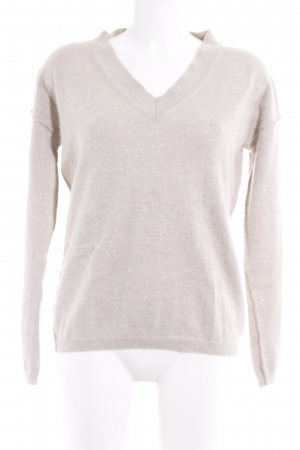 Strenesse Wollpullover silberfarben-camel Casual-Look