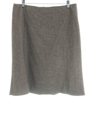Strenesse Gonna di lana beige-nero motivo a zig-zag elegante