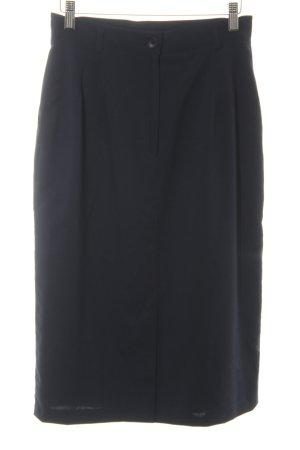 Strenesse Wollen rok donkerblauw zakelijke stijl
