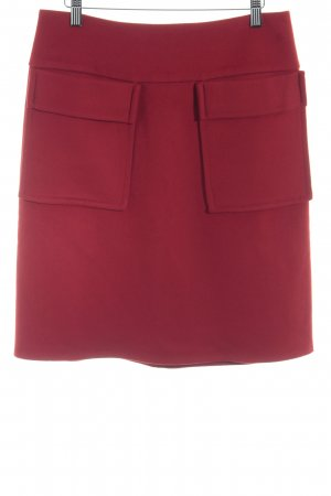 Strenesse Wool Skirt dark red retro look