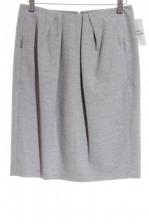 Strenesse Wool Skirt light grey flecked classic style