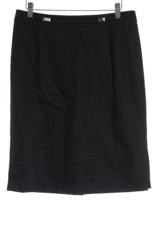 Strenesse Gonna di lana nero-grigio chiaro stile classico