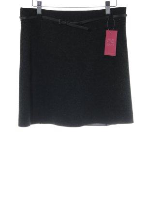 Strenesse Wollen rok zwart gestippeld zakelijke stijl