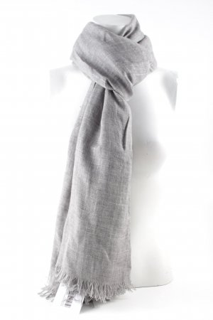 Strenesse Woolen Scarf silver-colored glittery
