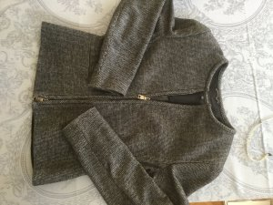 Strenesse Tweed blazer zwart-lichtgrijs Gemengd weefsel