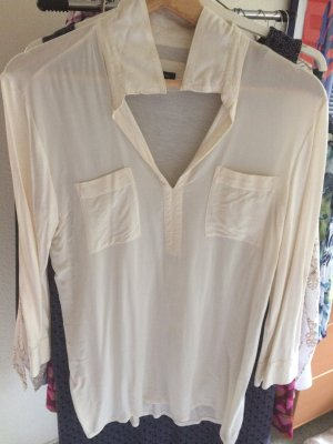Stretch Bluse von Marc O'Polo, creme, Gr. 40