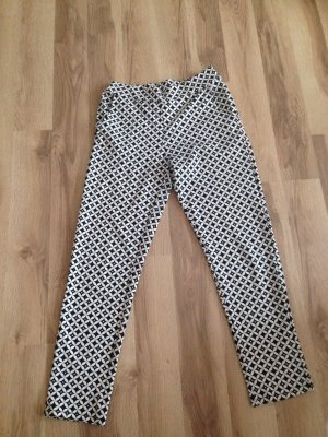 Pantalone elasticizzato nero-bianco