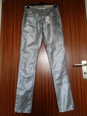 Esmara Pantalone a sigaretta argento Cotone