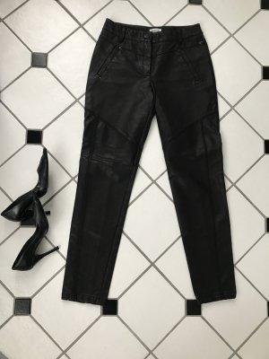 Pantalon en cuir noir polyuréthane