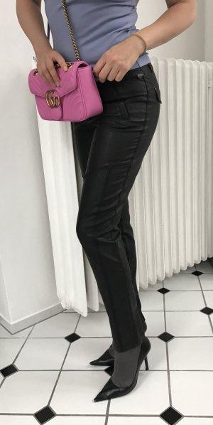 Leren broek zwart Polyurethaan
