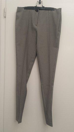 Opus Pantalon à pinces blanc-noir polyester