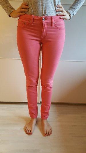Pantalon strech saumon coton