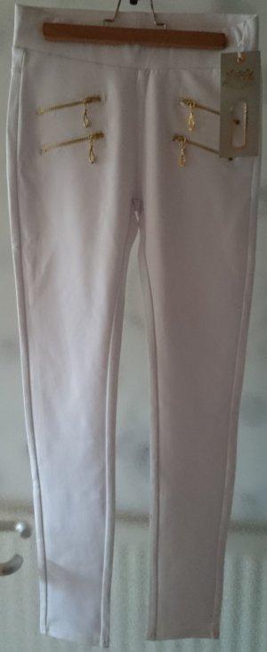 Stretch  Hosen  Weiß