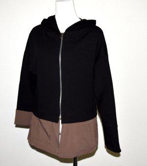 Ancora Veste courte noir-brun tissu mixte
