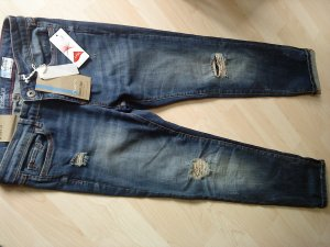 Stretch Jeans blau 29/32 mit cut outs