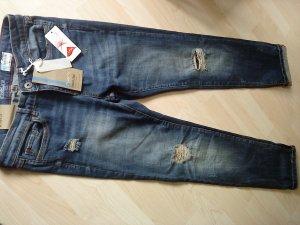 Takko Jeans a vita alta multicolore Cotone