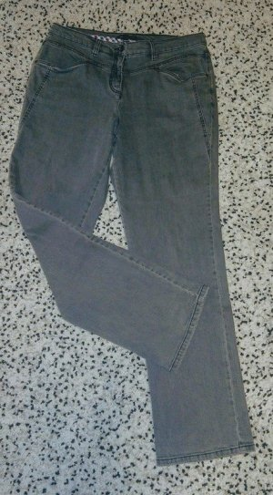 b.p.c. Bonprix Collection Straight Leg Jeans grey cotton