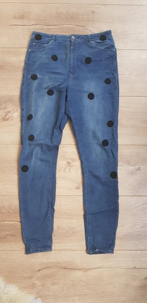 Asos Denim Jeans a vita alta multicolore