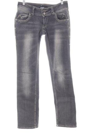 Jeans stretch gris foncé style décontracté