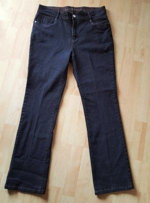 Vaquero elásticos azul oscuro-marrón-negro tejido mezclado