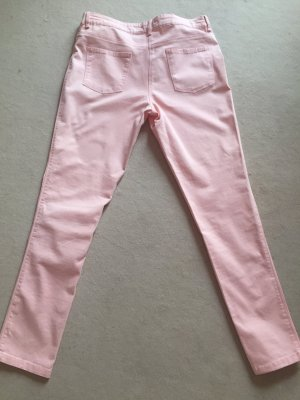 Yessica Pantalon cigarette rose clair coton