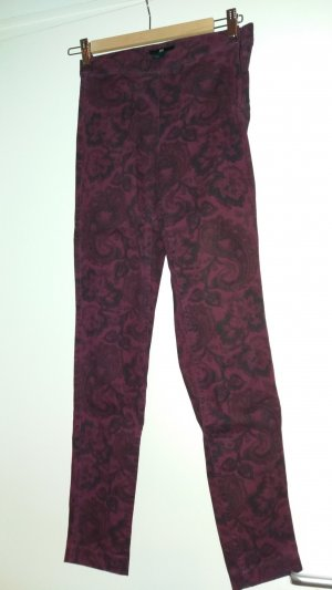 Stretch-Jeans mit Muster, lila, Gr. 34