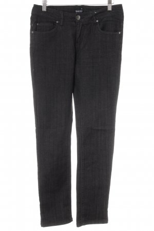 Stretch Jeans black-anthracite weave pattern casual look