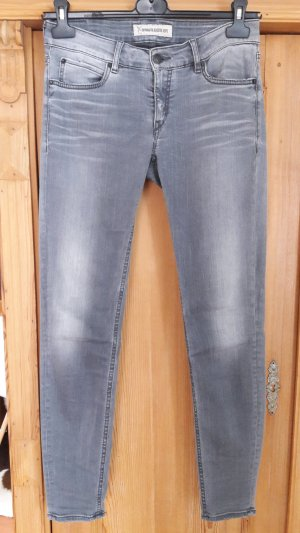 Drykorn Skinny Jeans silver-colored cotton