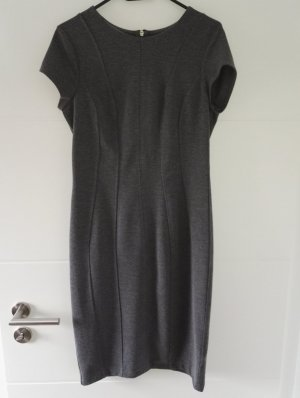 Stretch-Kleid / Etuikleid / graumeliert