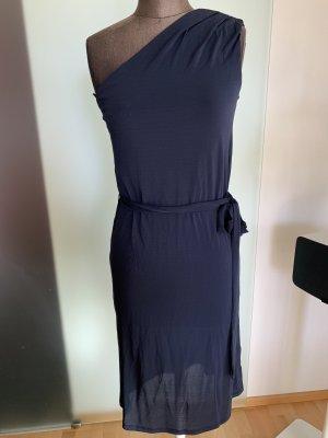 H&M Eénschouderjurk donkerblauw