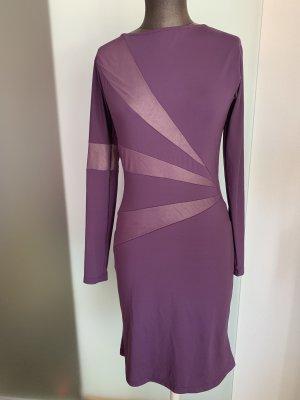 Vestido elástico violeta oscuro-violeta grisáceo