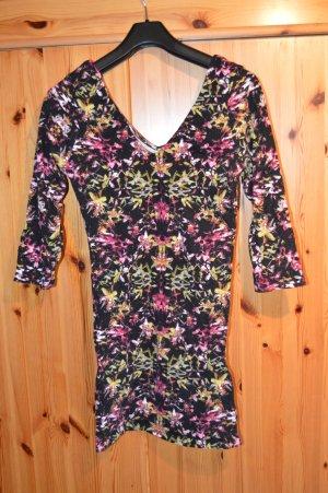 Stretch-Kleid mit Blumenmuster