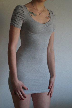 Stretch Kleid mit gerafften Ärmeln