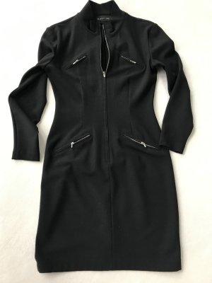 Blacky Dress Vestido elástico negro tejido mezclado