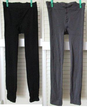 Leggings negro-gris oscuro