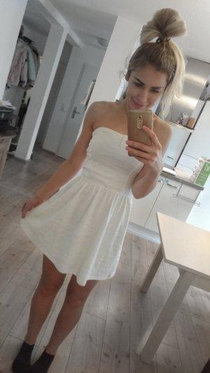 Stretch Mini Kleid gr M weiss