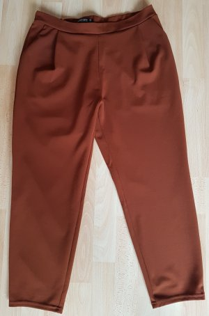 Blind Date Stretch Trousers cognac-coloured