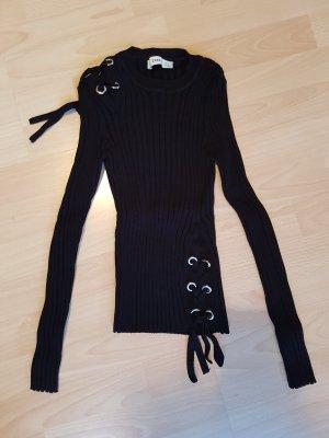 Stretch - Pullover mit Schnürdetails