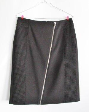 Stretch Rock Gerry Weber Größe 38 M Schwarz Pencilskirt Bleistift Schwarz Reißverschluss Sexy Business