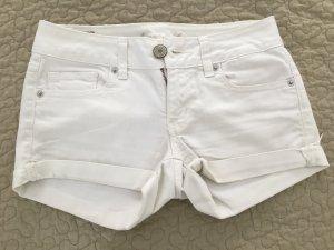 American Eagle Outfitters Pantalón corto de tela vaquera blanco