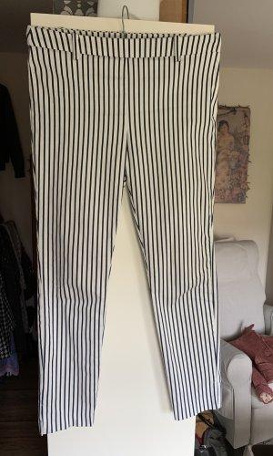 H&M Pantalón elástico blanco-azul oscuro
