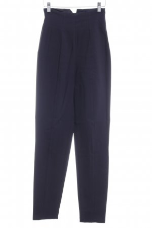 Stretch Trousers dark blue simple style