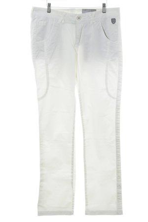 Pantalone elasticizzato beige chiaro stile casual
