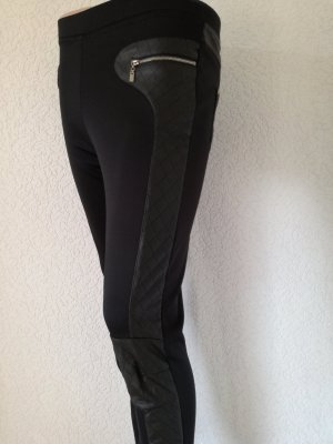 Stretchhose mit Wetlook Einsätzen Strass Stretch Hose