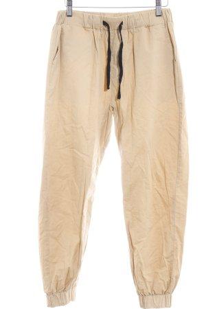 Pantalón elástico ocre look casual