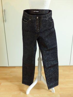 Gerry Weber Pantalone cinque tasche nero-grigio scuro Tessuto misto
