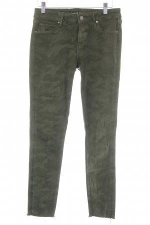 Stretch Trousers forest green-sage green camouflage pattern casual look