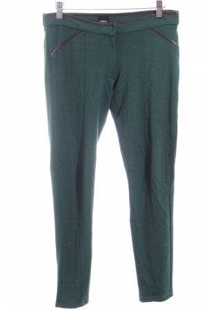 Stretchhose waldgrün-schwarz sportlicher Stil
